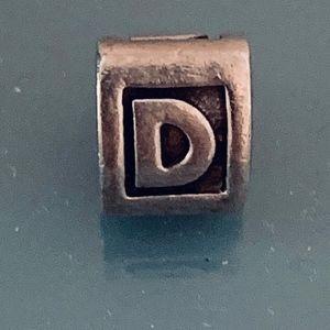 """Authentic Pandora """"D"""" Initial Charm"""